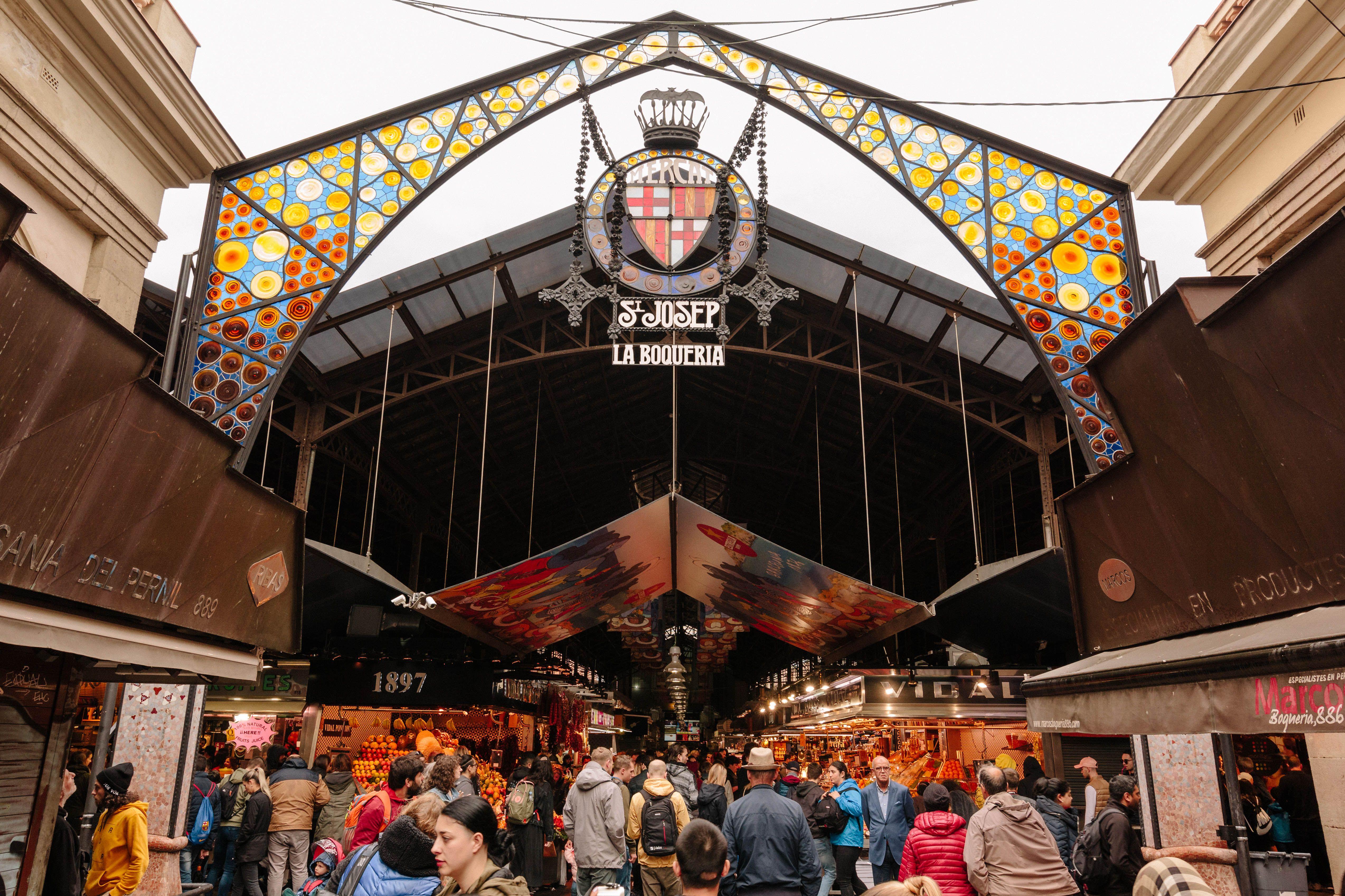 Entrance to the La Boqueria market