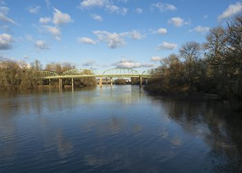 Albany Oregon Willamette River Ellsworth Street Bridge Benton Linn Counties