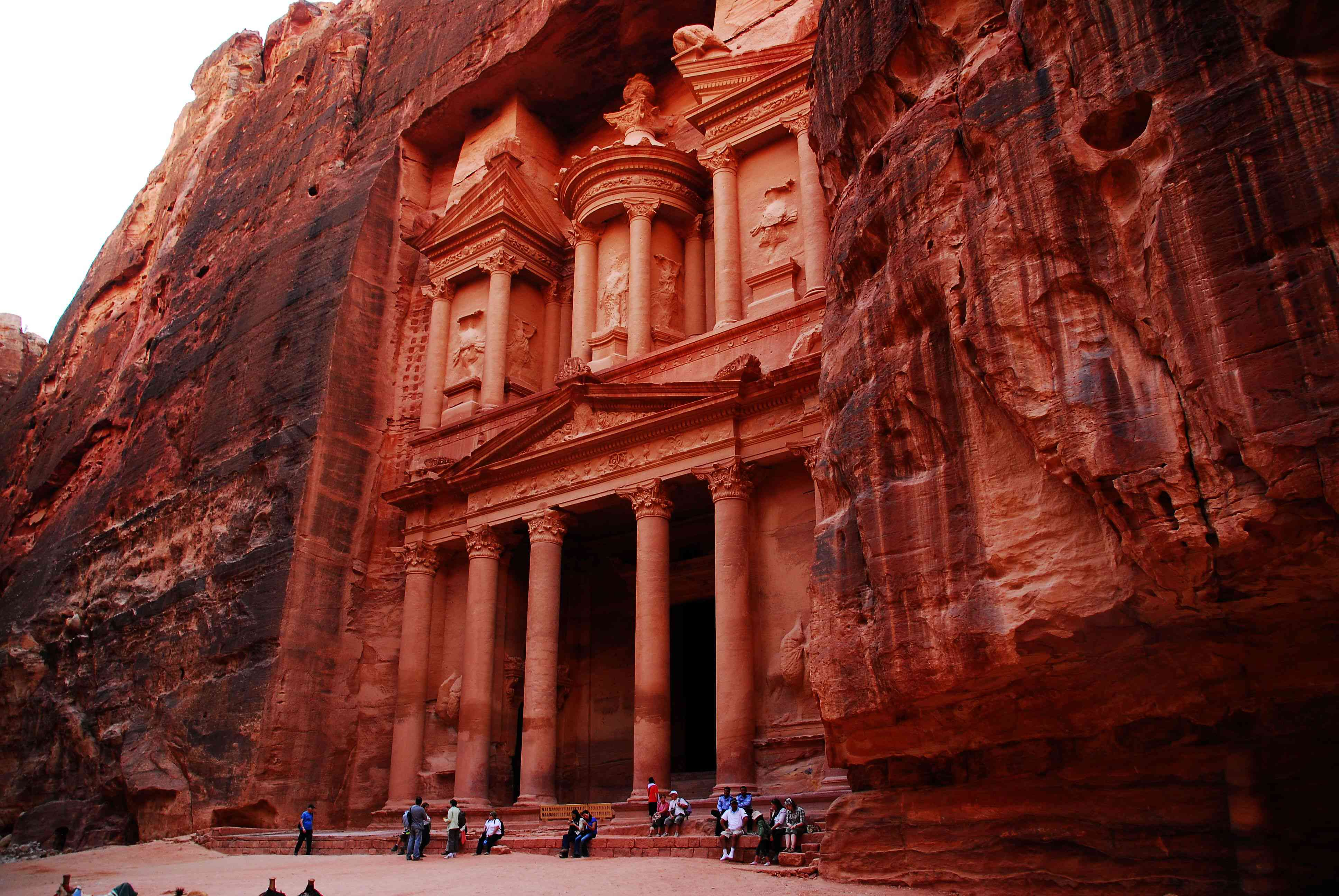 A close up of the entrance to Petra