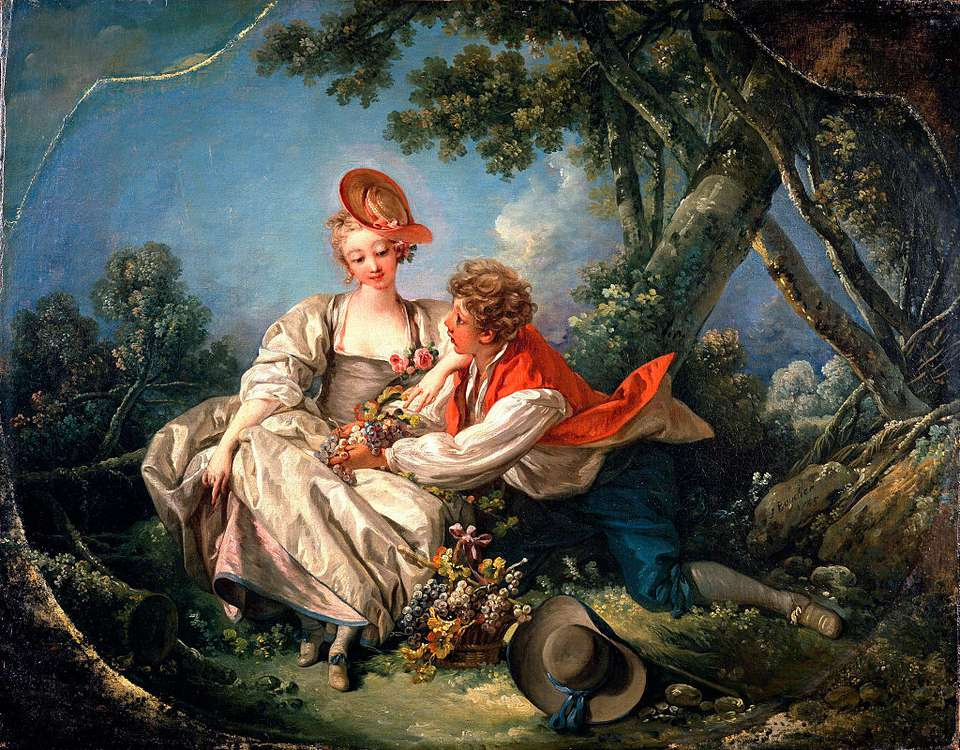 Lovers in Autumn, Francois Boucher