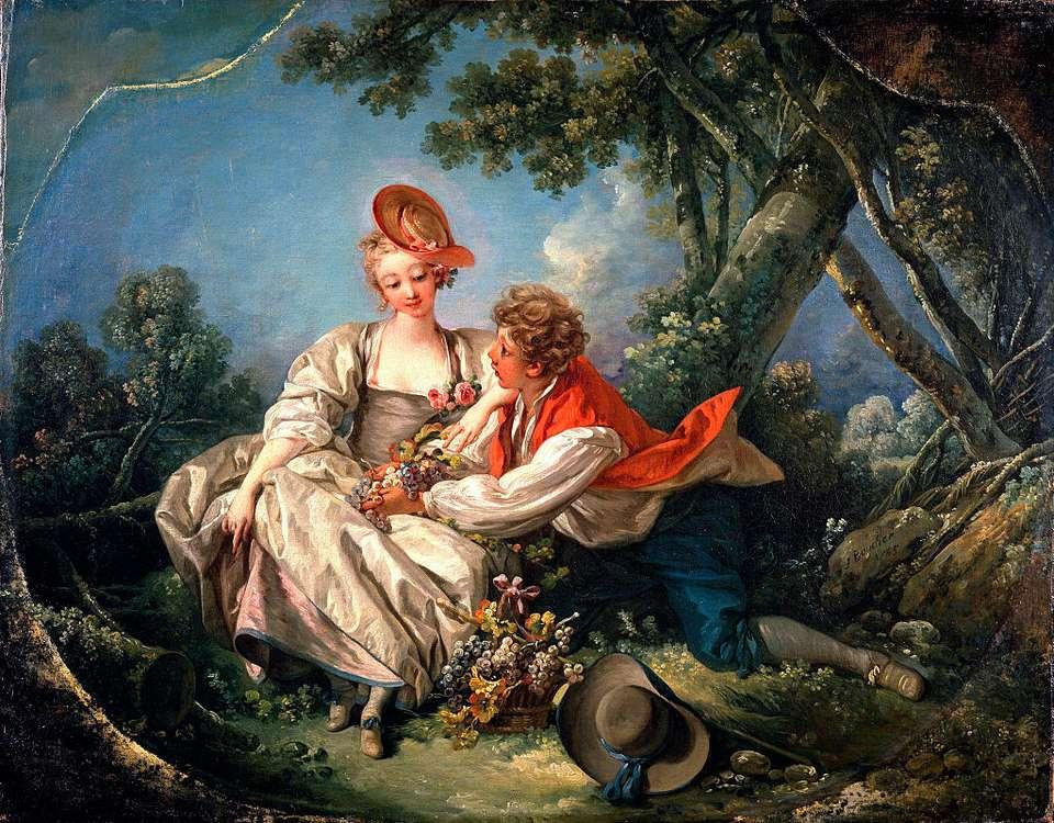 Lovers in Autumn, Francois Boucher