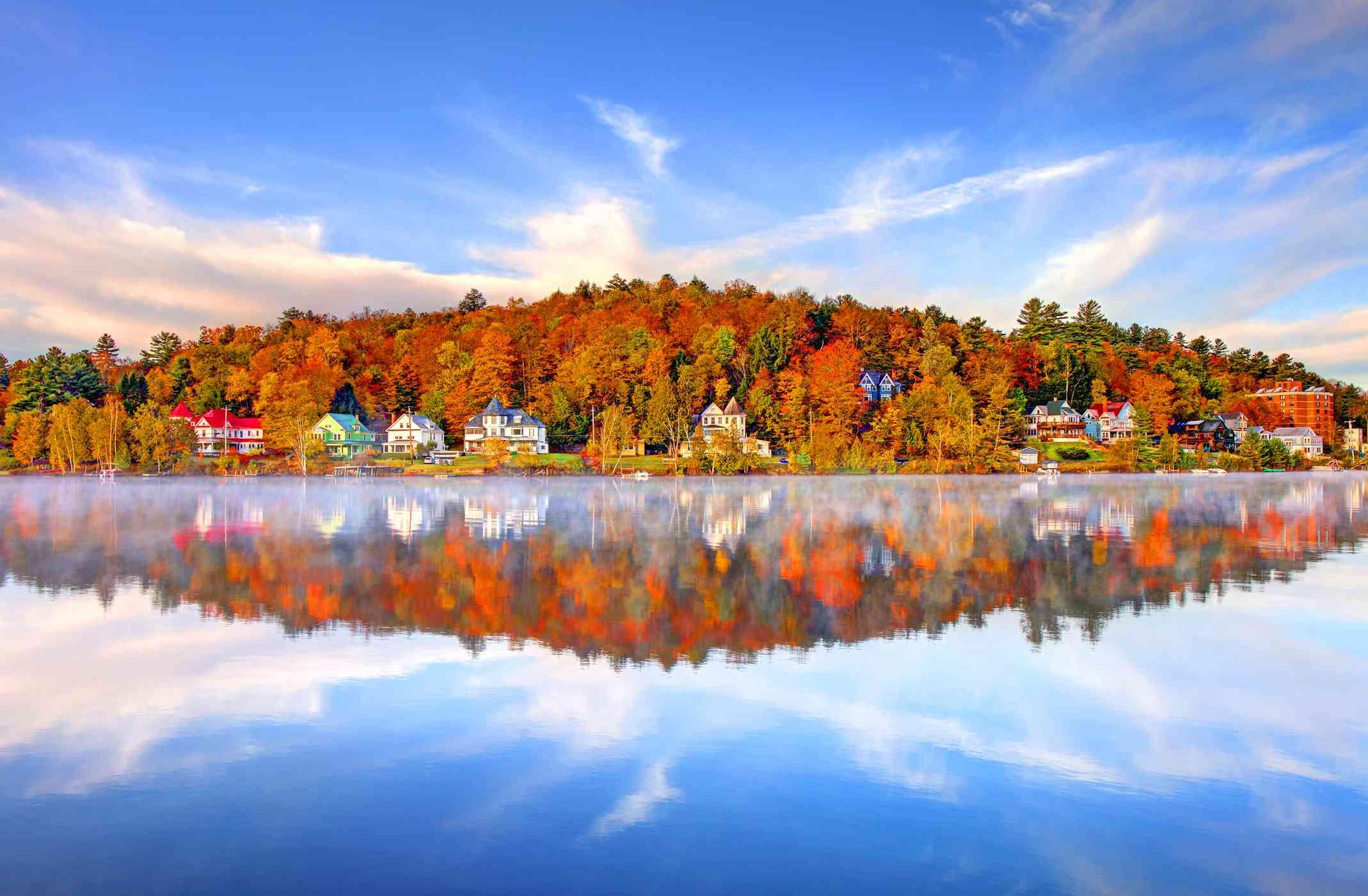 Saranac Lake, NY, Fall Foliage