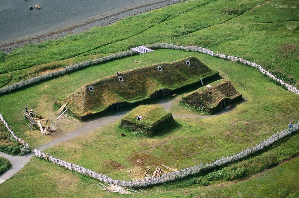 Aerial of Lanse aux meadows