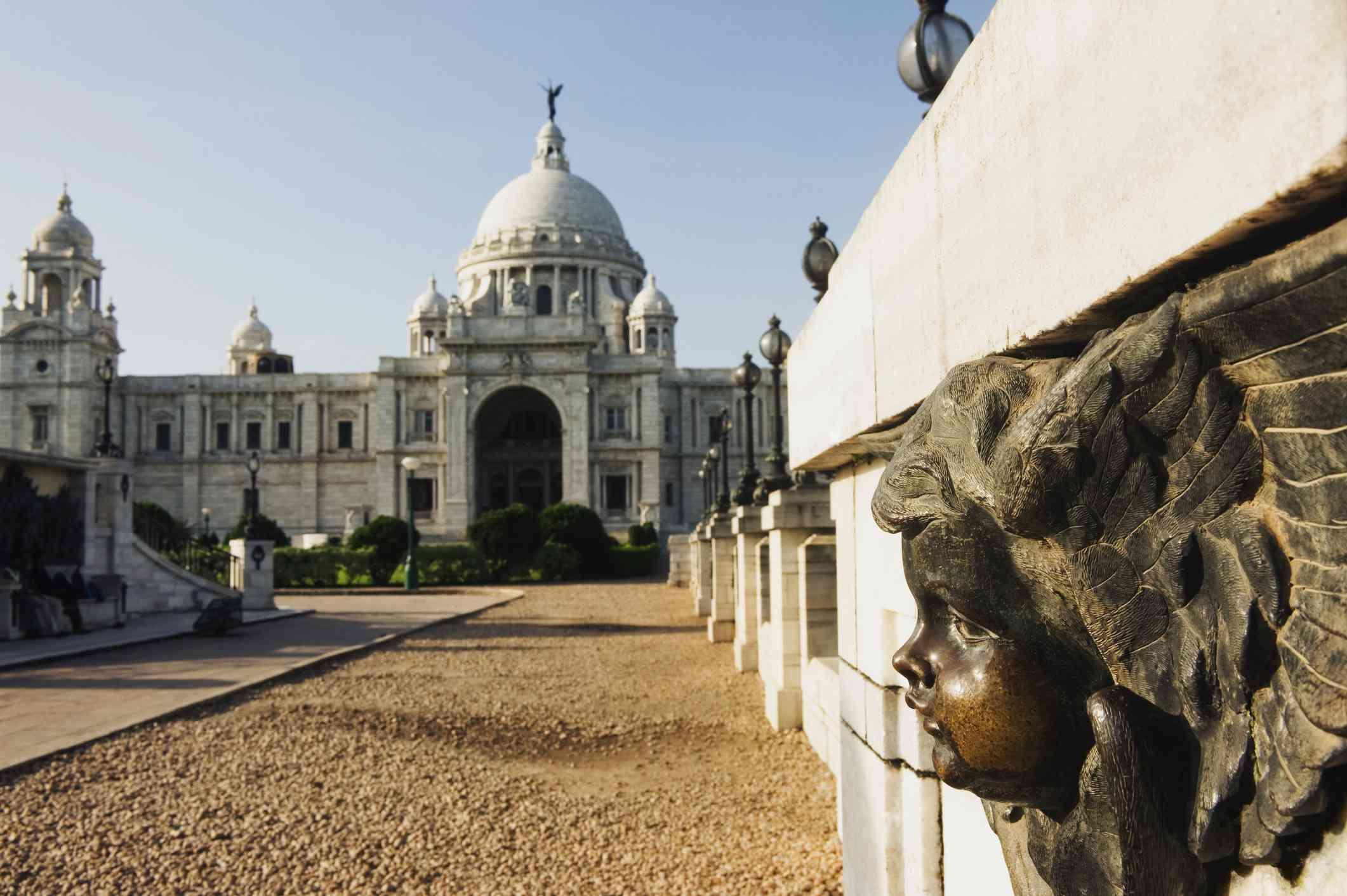 Facade of a museum, Victoria Memorial, Kolkata.