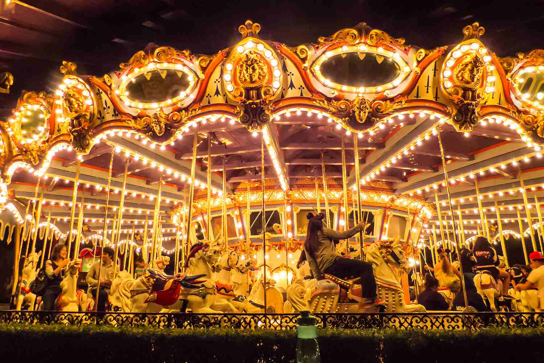 King Arthur Carrousel at Night