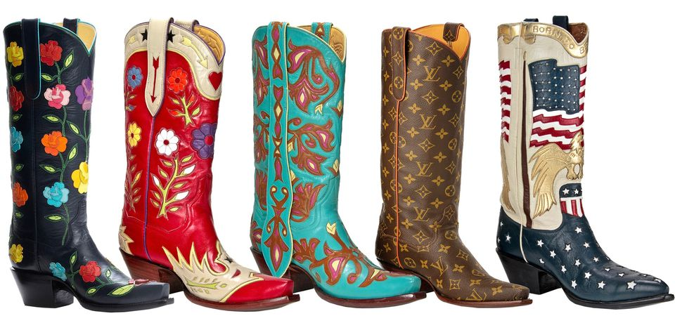 Custom-made cowboy boots from Back at the Ranch in Santa Fe