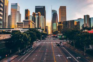 Road In Los Angeles Against Sky