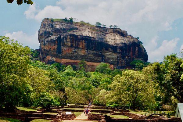 tourists visiting Sigiriya