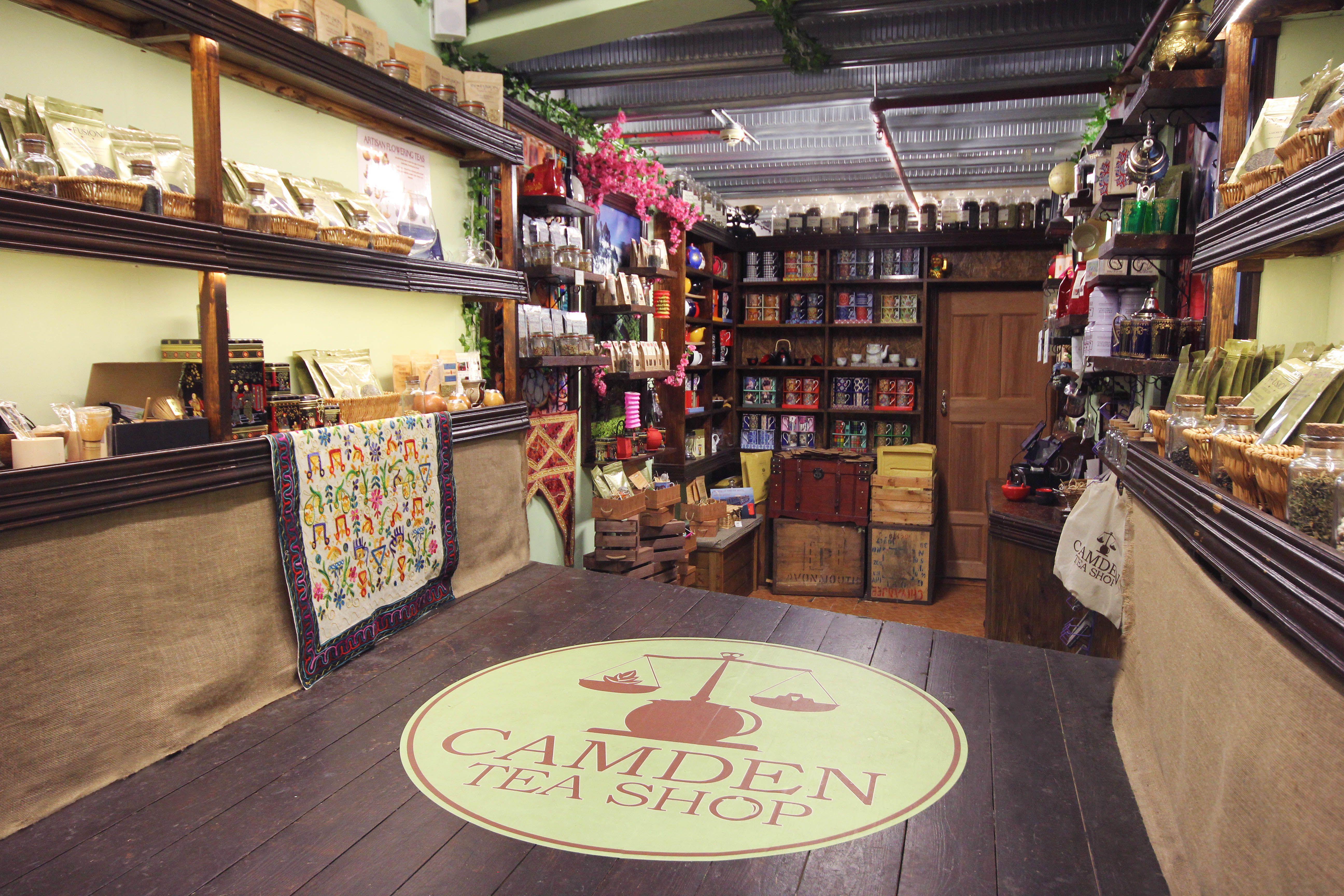 Interior of the Camden Tea Shop
