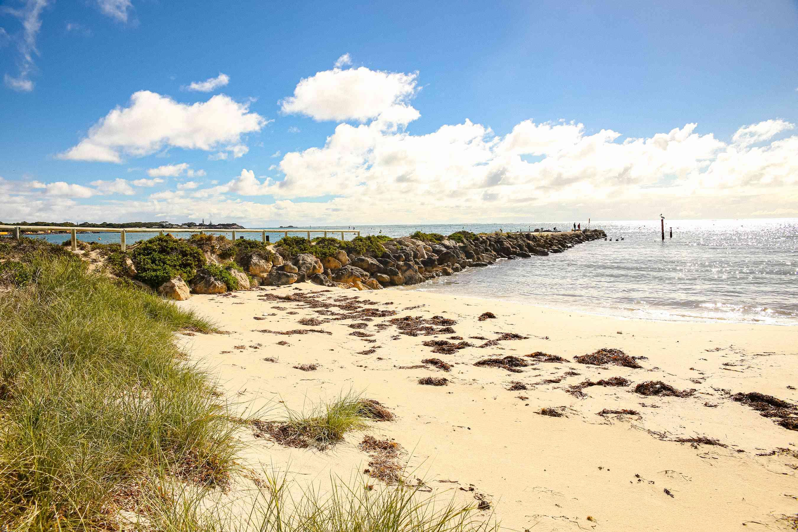 A sandy beach on Rottnest Island