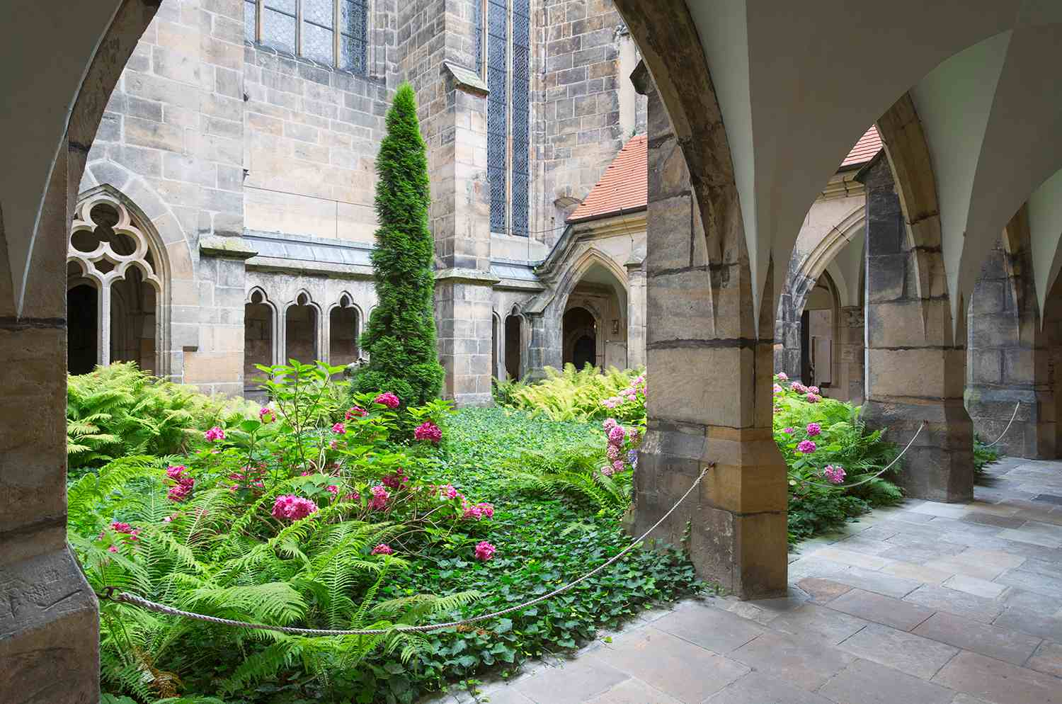 Garden at a cathedral