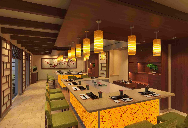 Bonsai Teppanyaki Restaurant on the Carnival Horizon cruise ship