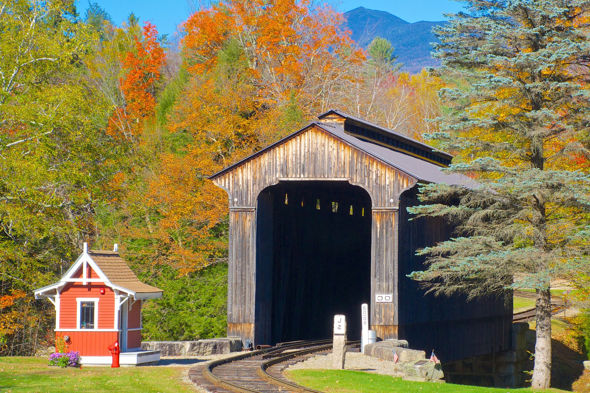 Clark's Covered Bridge in Lincoln NH