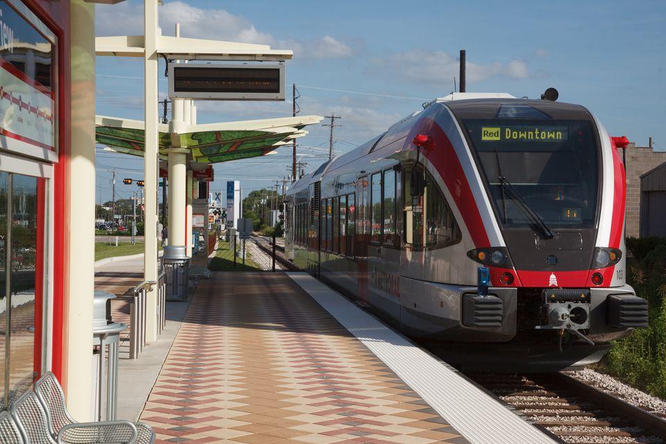 MetroRail Light Rail in Austin, TX