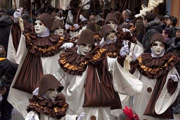 People celebrating at Limoux Carnival