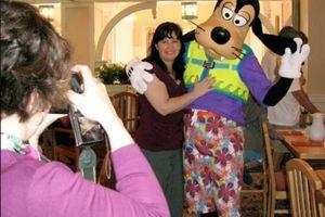 Goofy at Disney World restaurant