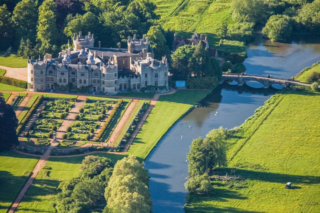 Aerial photograph of Longford Castle, Wiltshire