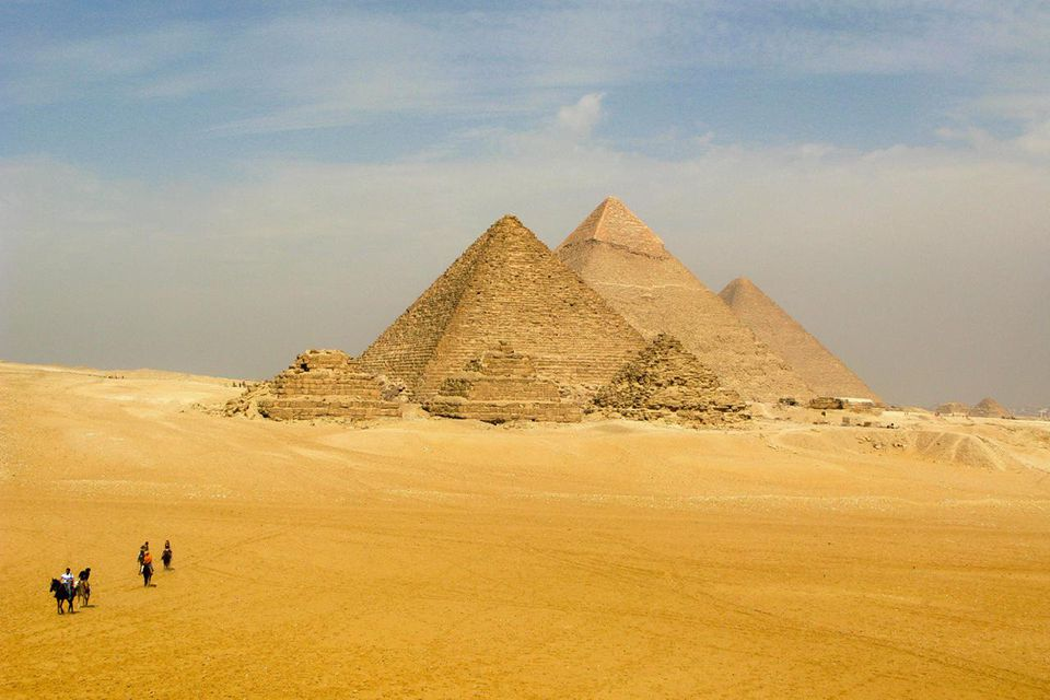 The Giza Plateau in Greater Cairo, Egypt.