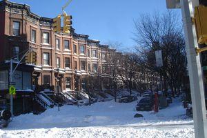 Snowy Brooklyn street