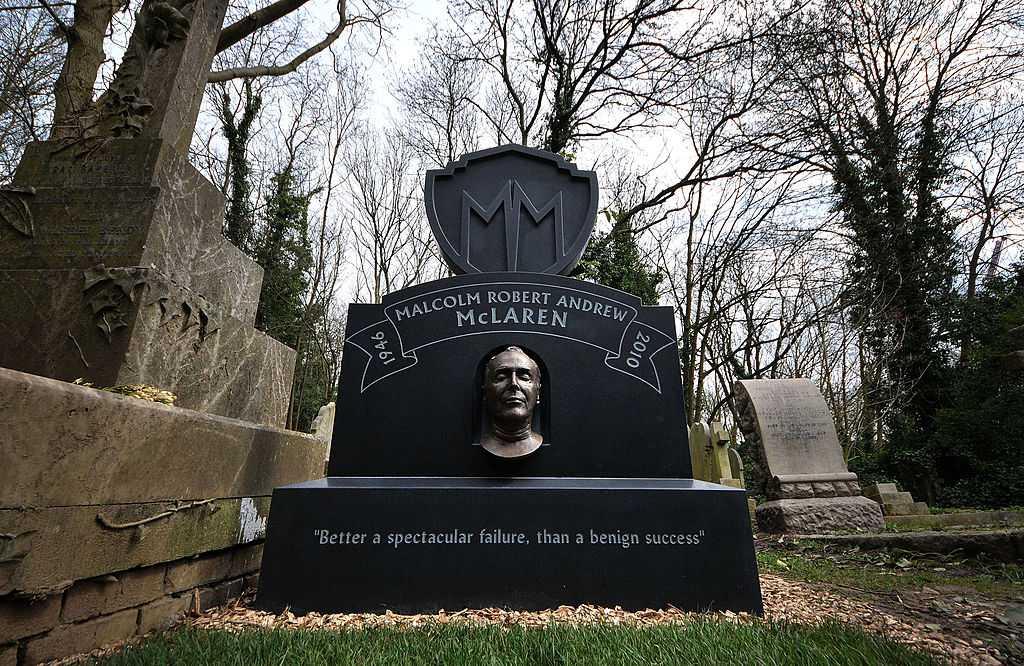 Malcolm McLaren's headstone and grave