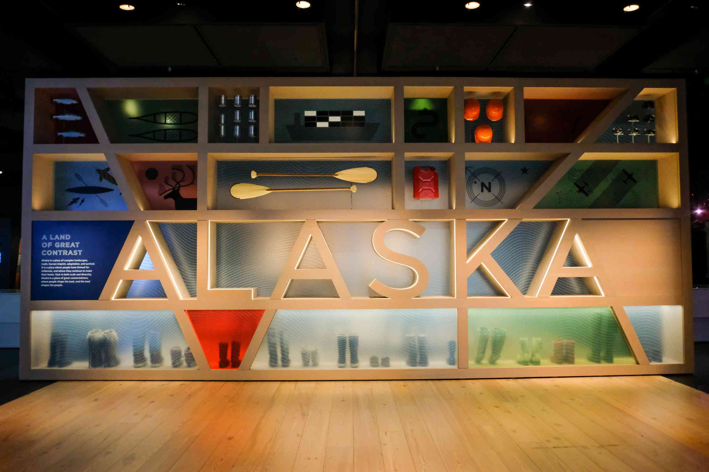An exhibit in the Anchorage Museum