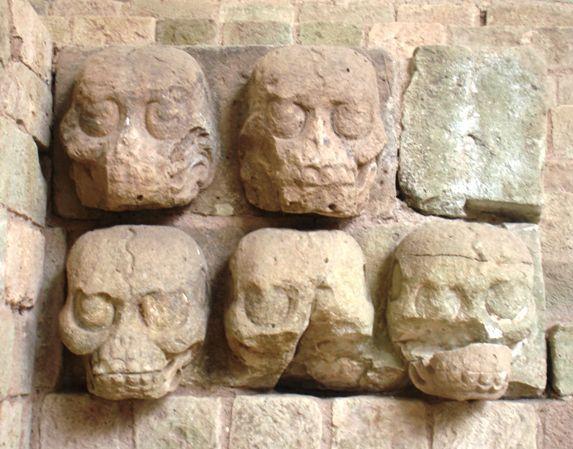 Copan Ruins Skull Carving