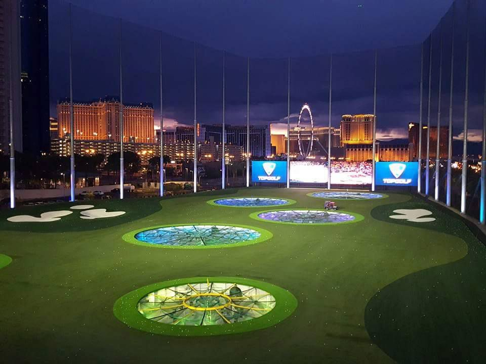 Top Golf Las Vegas at Night