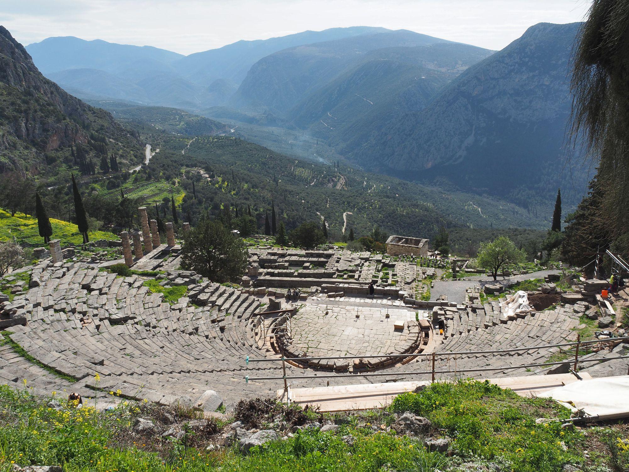 The Ancient Theatre of Delphi, Greece