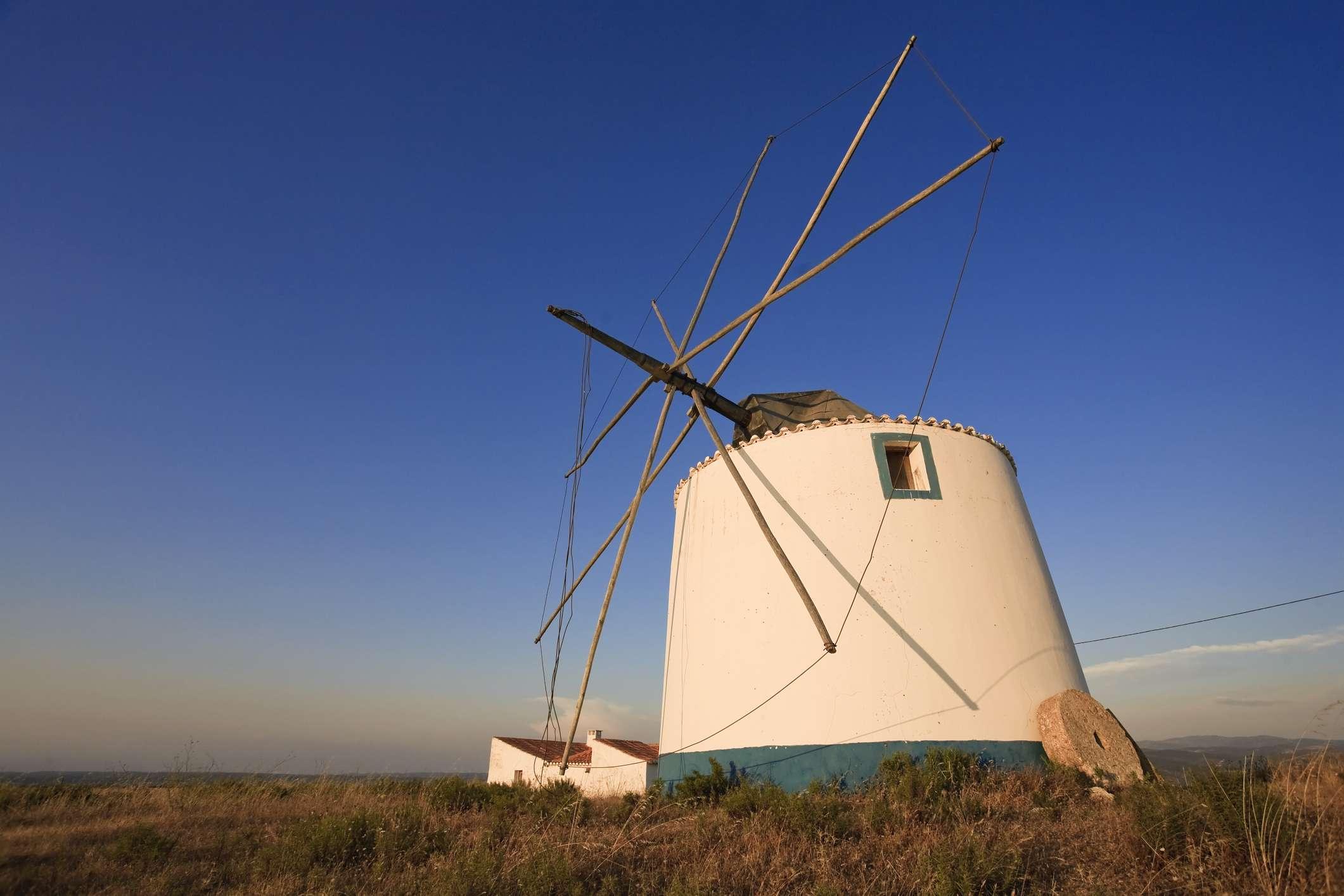 Aljezur, Old Windmill in countryside Algarve