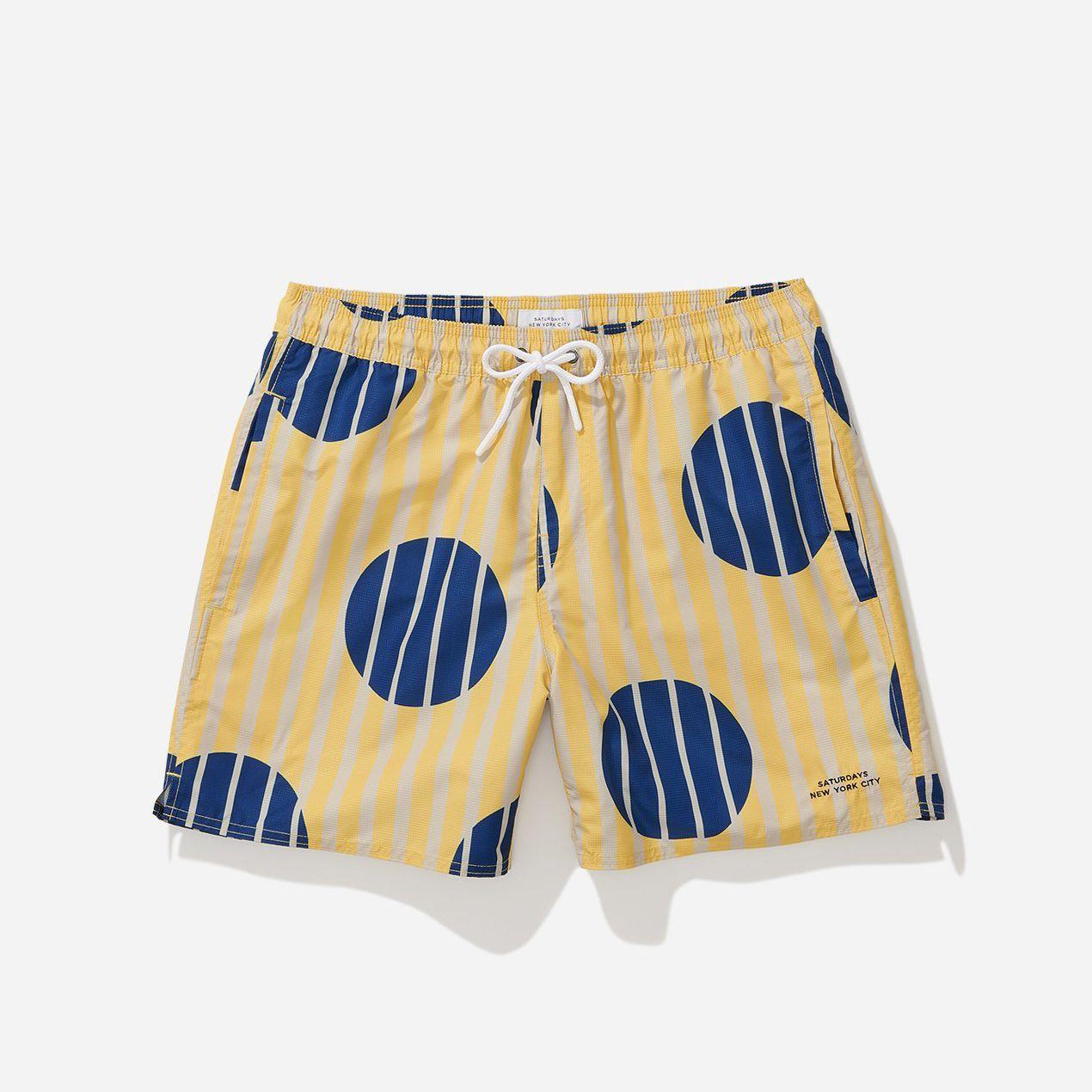 Timothy Striped Polka Dot Swim Short