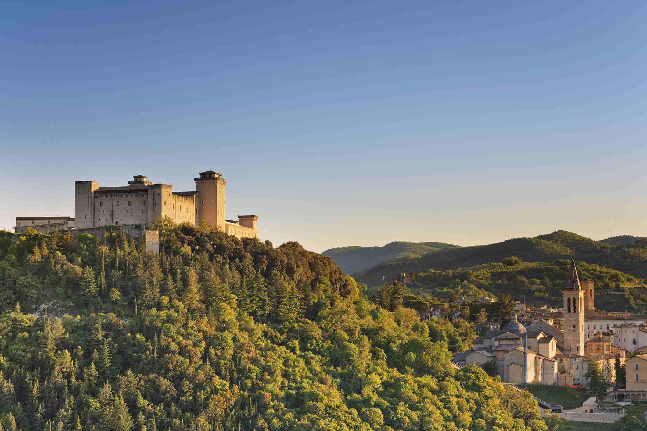 Italia, Umbría, Italia, distrito de Perugia, Spoleto, Rocca Albornoz