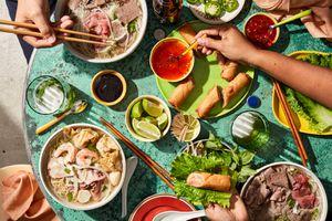 vietnamese food on table