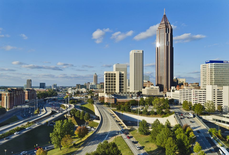 USA, Georgia, Atlanta, View of downtown