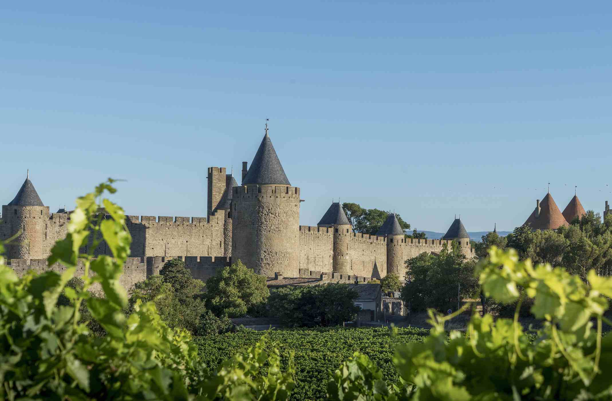 Medieval fortified city of Carcassonne, Languedoc-Roussillon, France