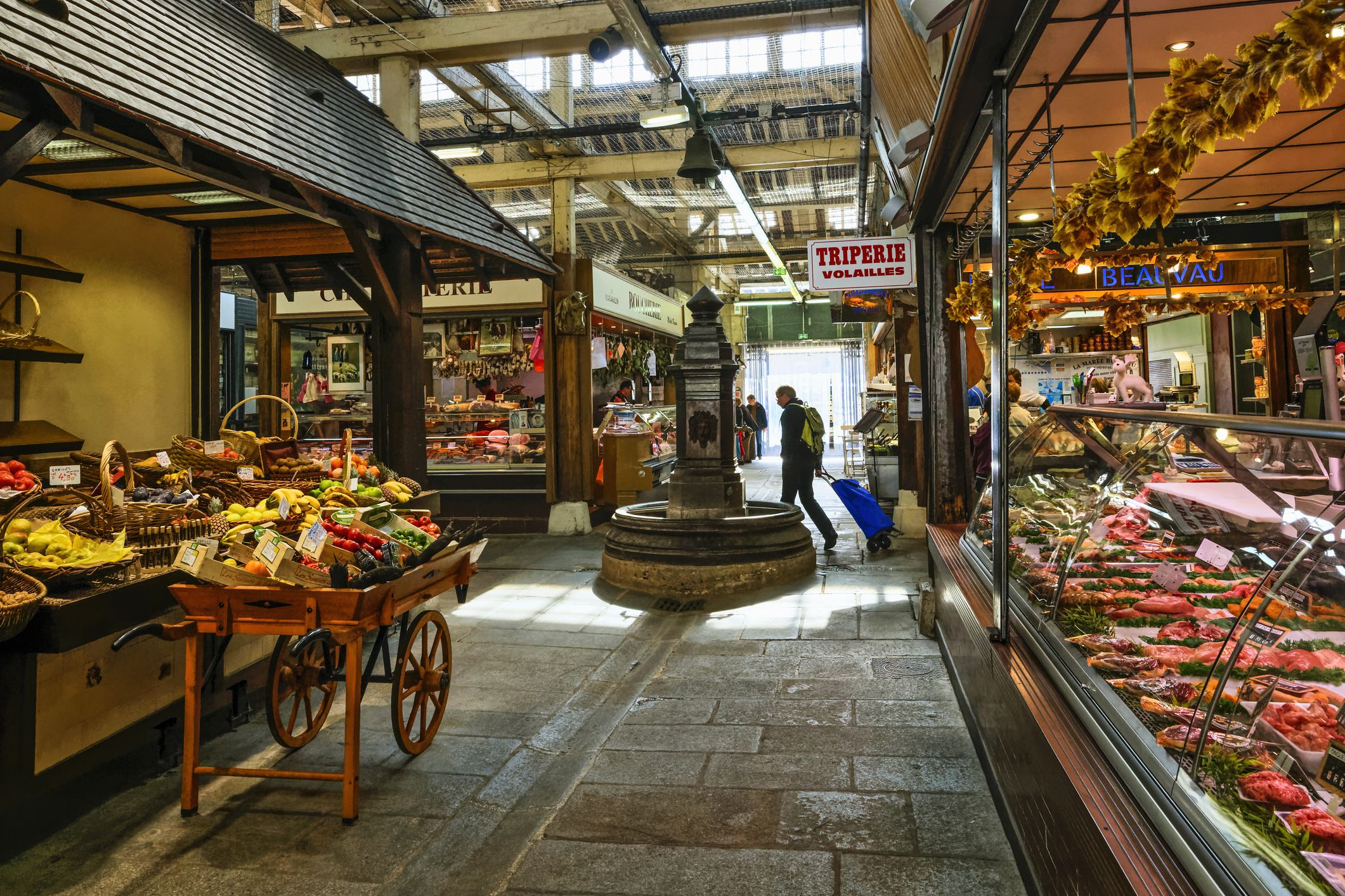 Stalls in the Marché d'Aligre, Paris, France