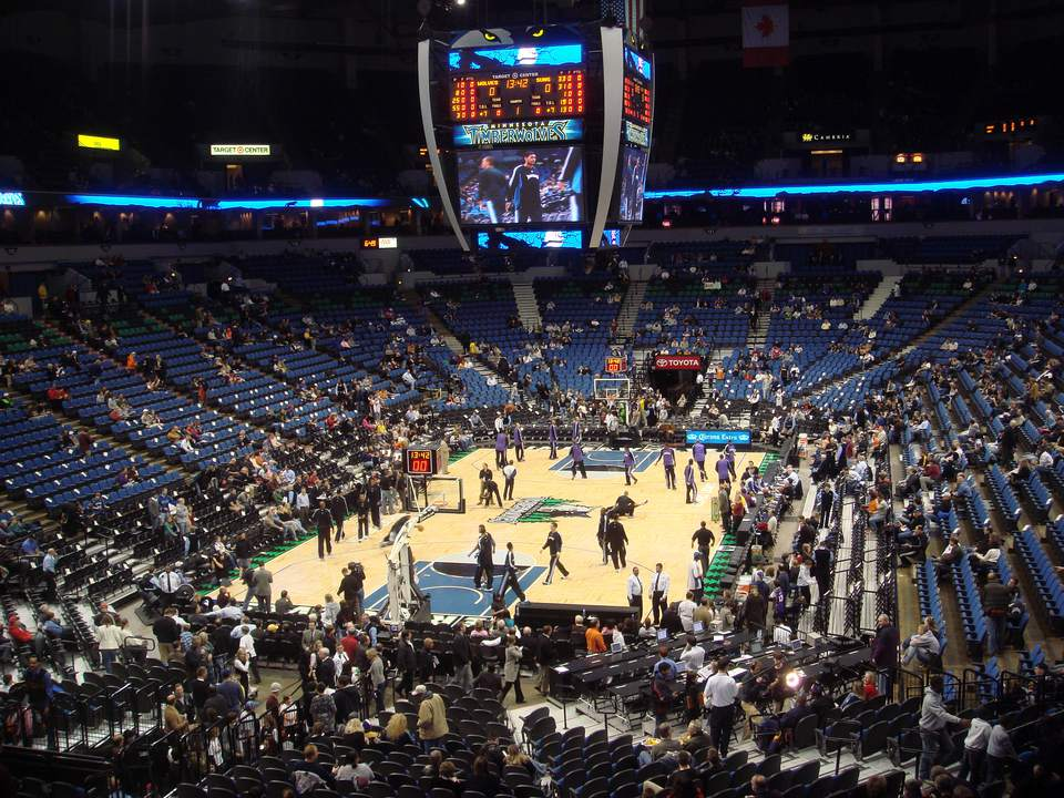 Target Center arena in Minneapolis, Minnesota;