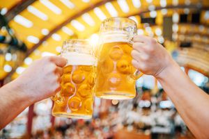Two steins of beer