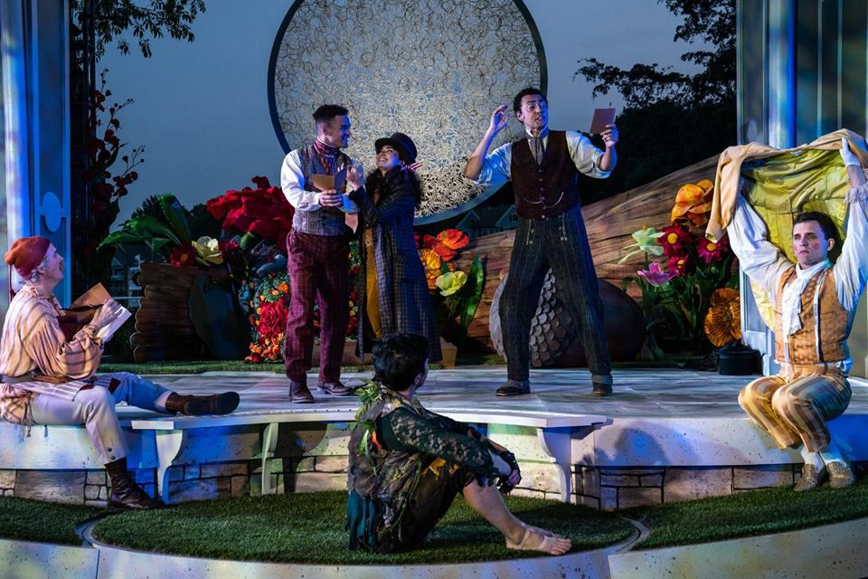 Actors rehearsing at Shakespeare On The Sound