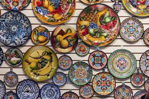 Examples of Talavera Folk Art of Mexico