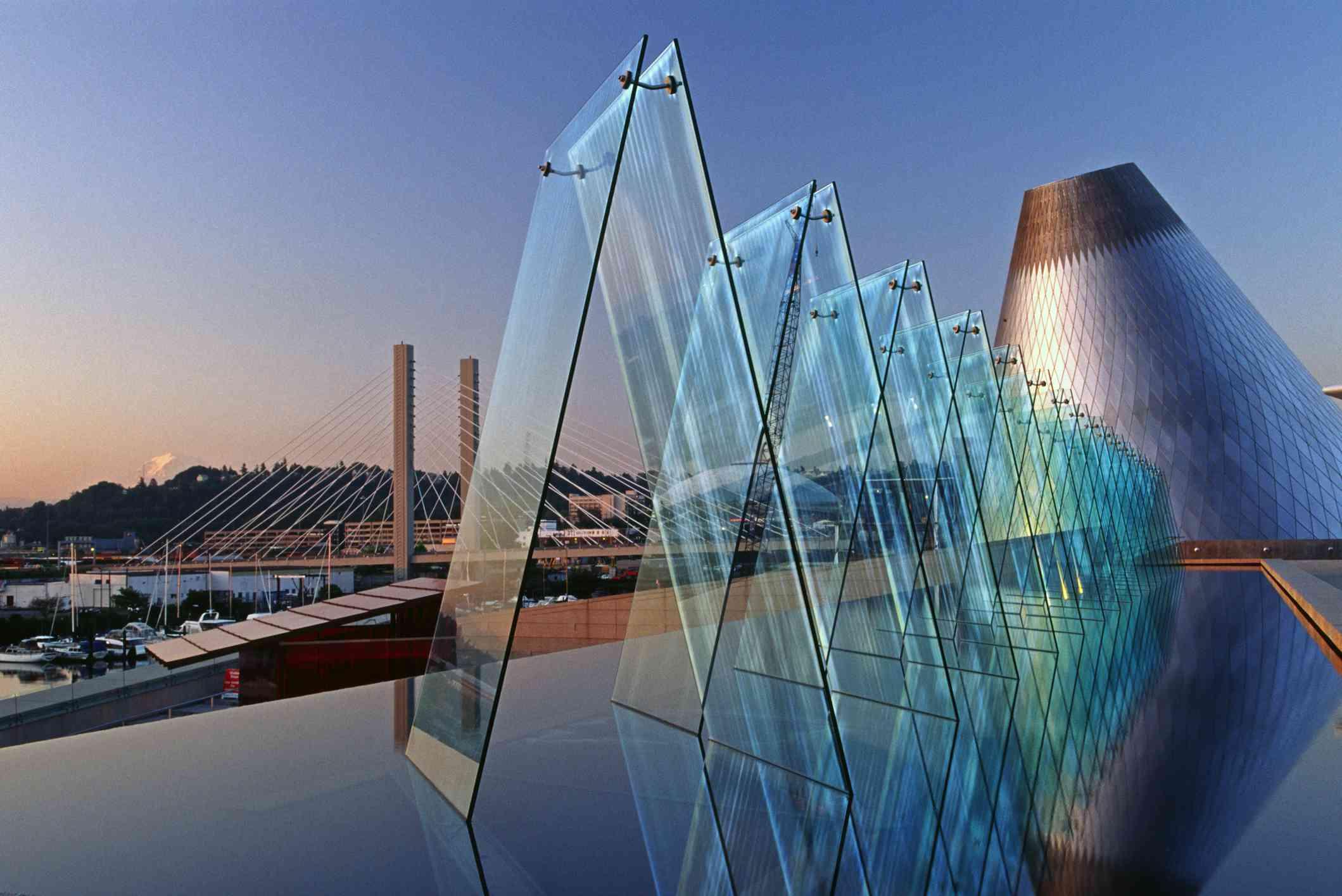 Museum of Glass at sunrise, Tacoma, Washington