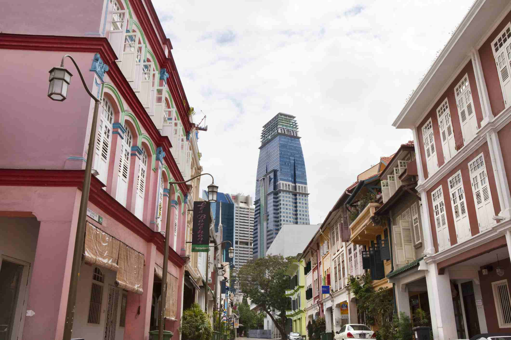 Colonial houses on Ann Siang Road, Singapore
