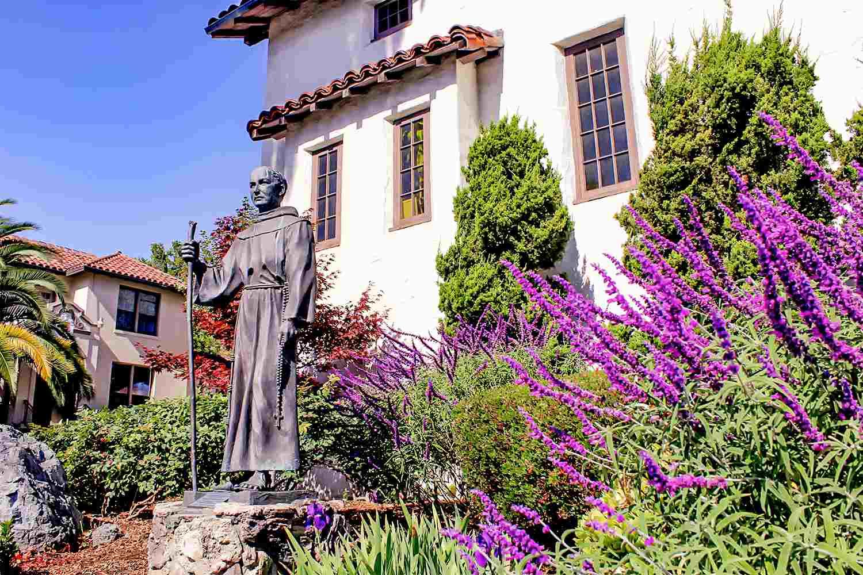 Statue of Father Serra at Mission San Rafael