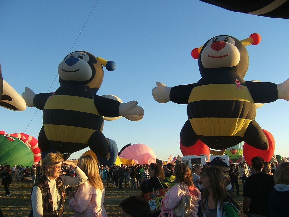Bee Balloon Couple