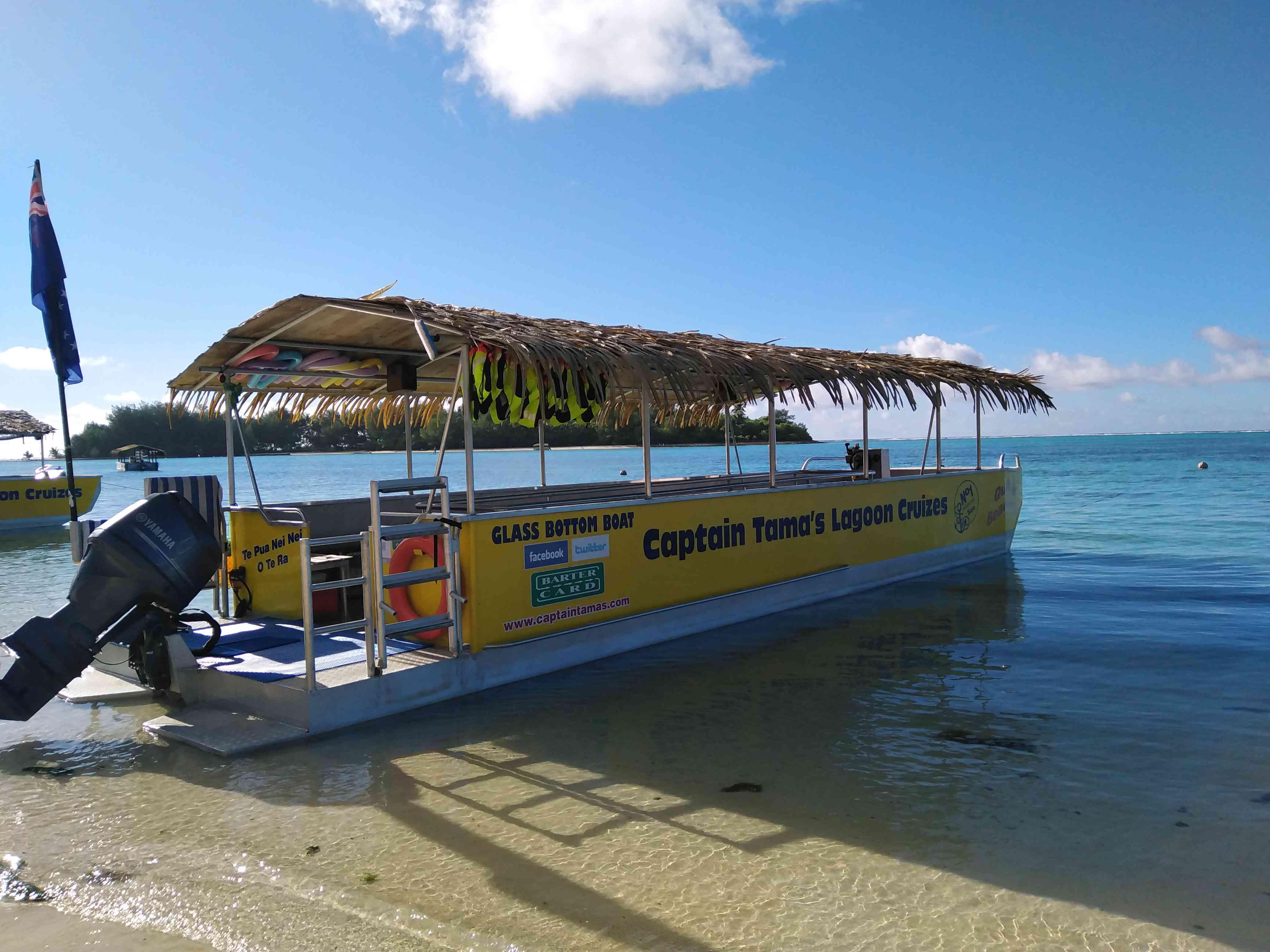 Glass-bottomed boat on Muri Lagoon