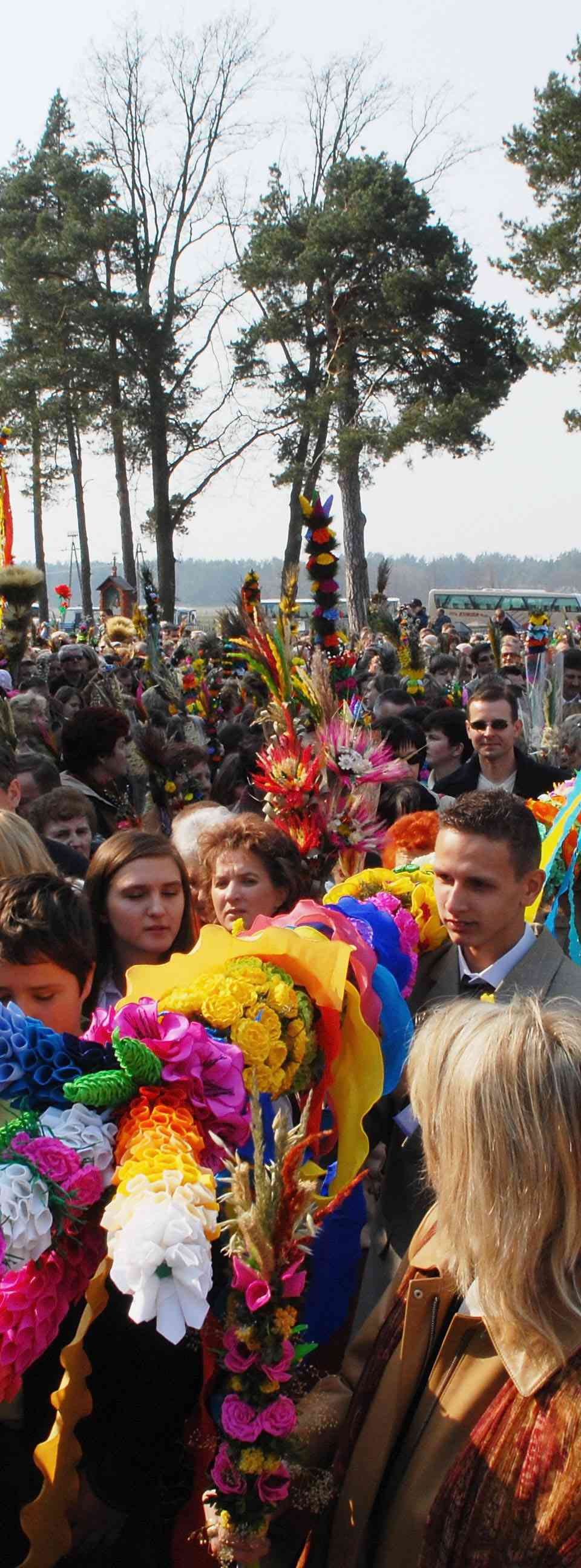 Palm Sunday Procession Through Lyse In Poland