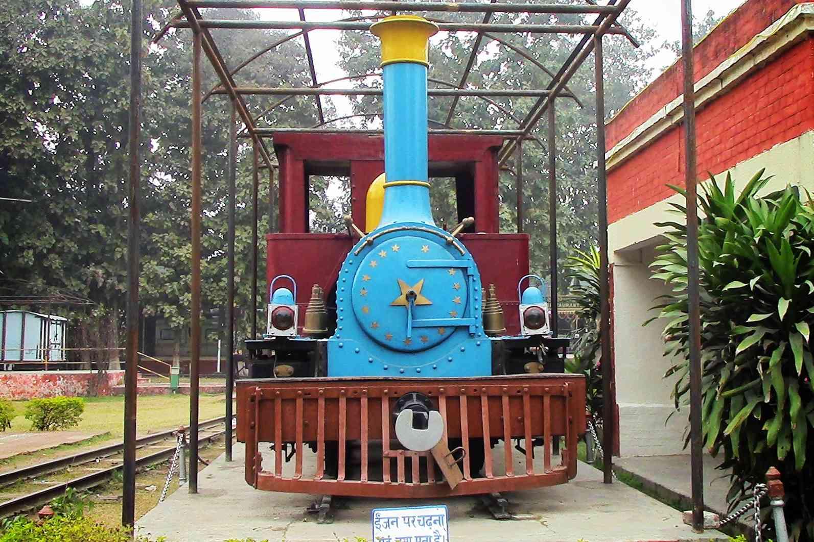 Front view of a vintage Gorakhpur Railway Museum