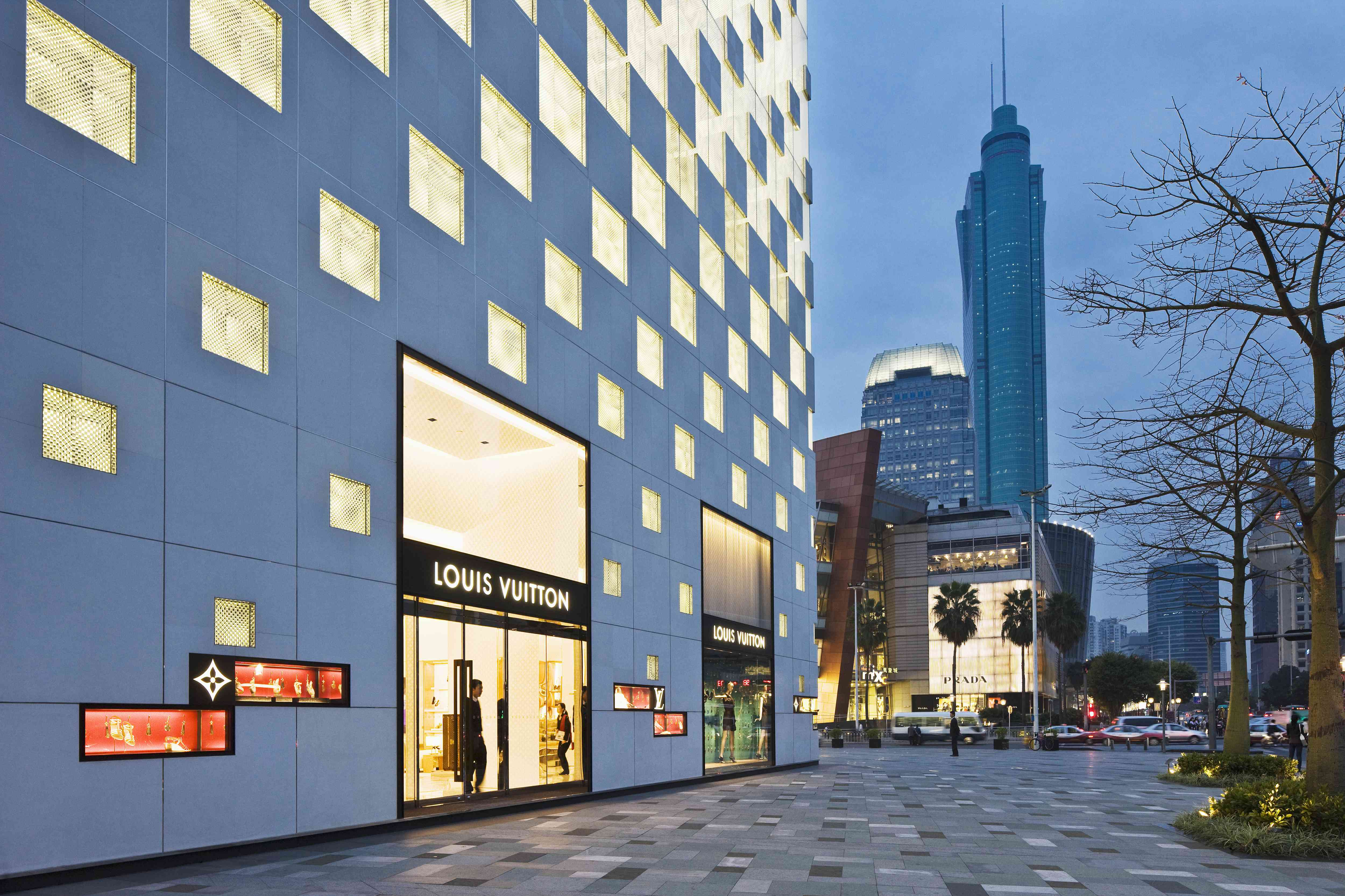 Louis Vuitton shop at the MixC shopping mall in Shenzhen