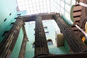 Temple of Augustus Roman Ruins in Barceloa
