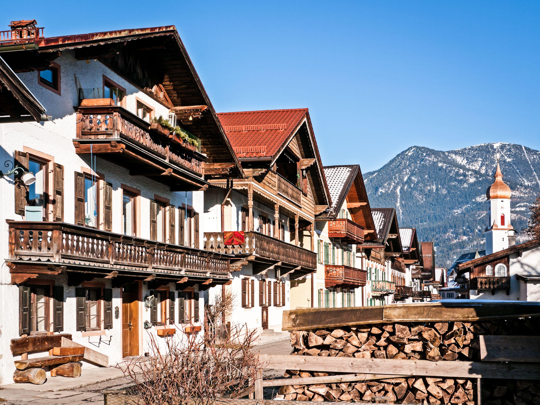 Old Town at Garmisch-Partenkirchen in Germany.