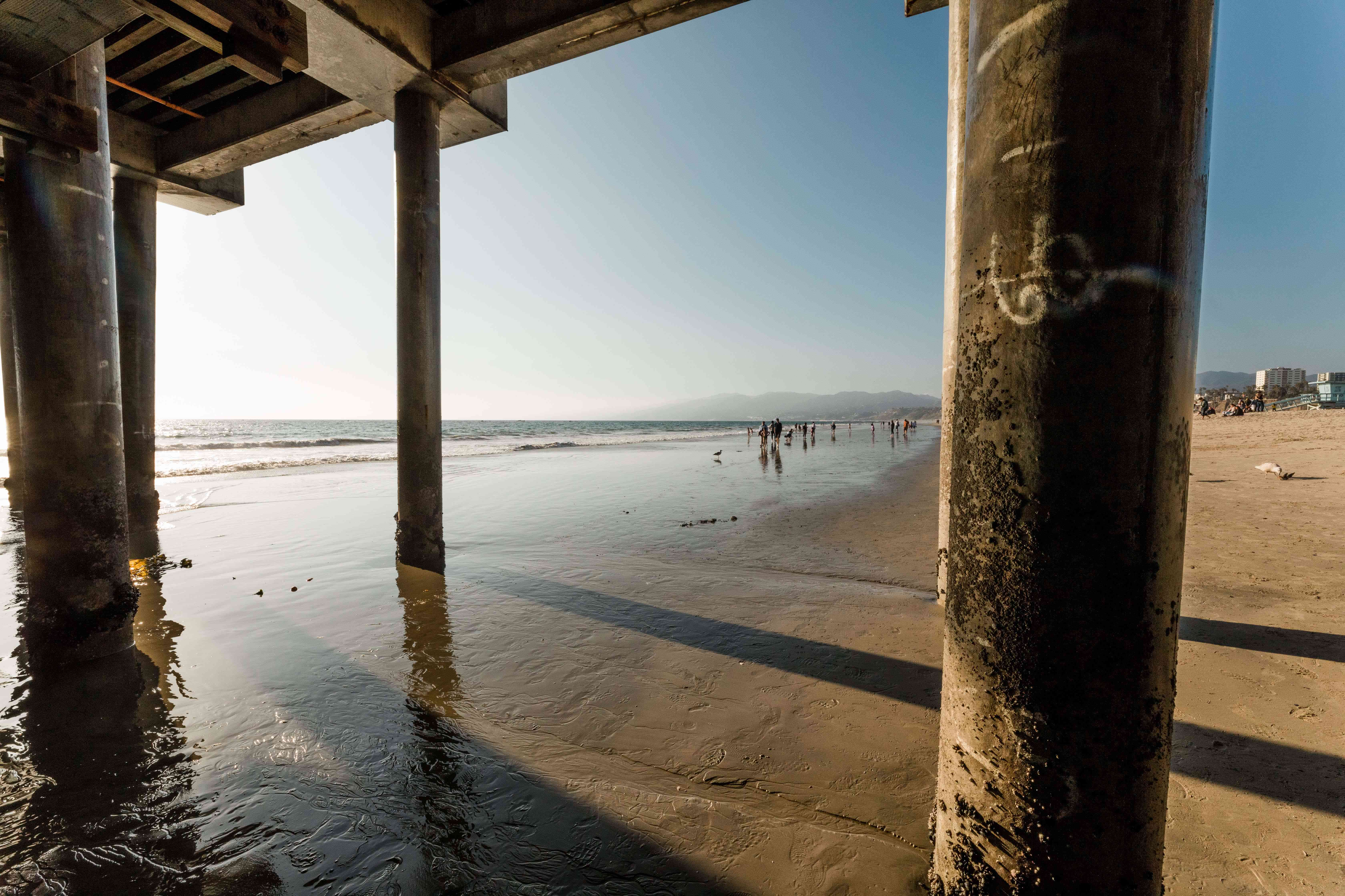 Santa Monica Beach in Los Angeles, CA
